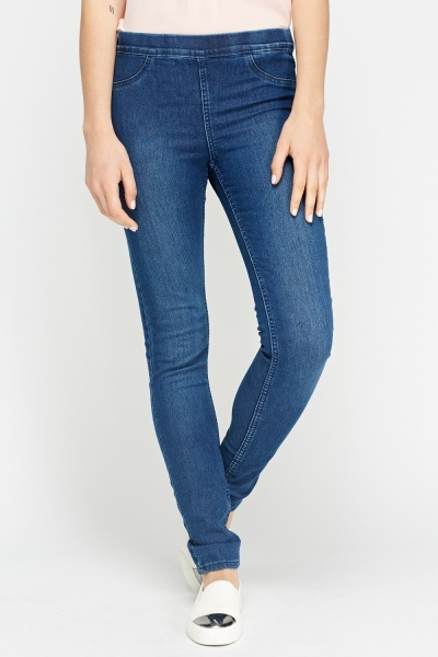 Skinny Fit Dark Blue Jeggings