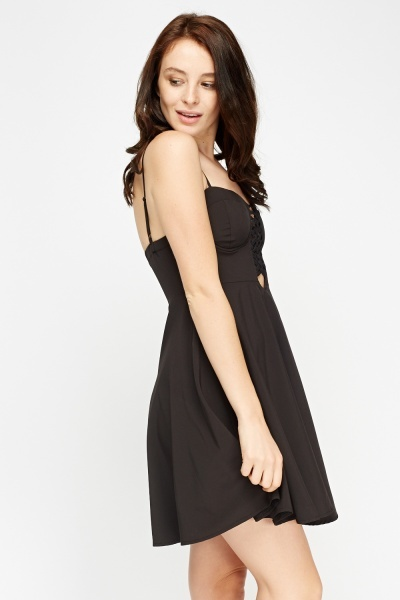 Sweet Heart Mini Black Dress