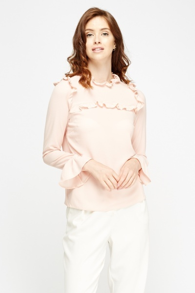 Frilled Pink Blouse
