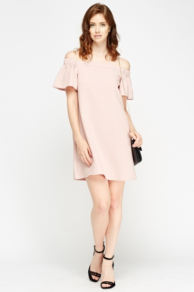 Off Shoulder Flared Swing Dress