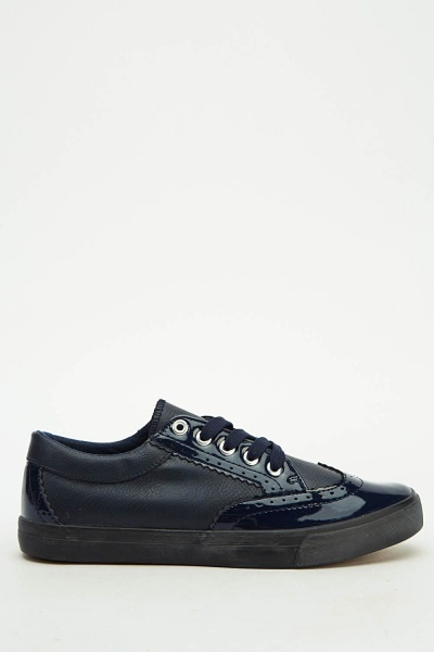 Brogue Lace Up Mens Trainers