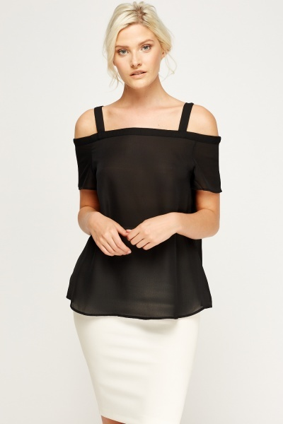 Cold Shoulder Swing Top