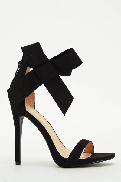 Bow Ankle Heeled Sandals