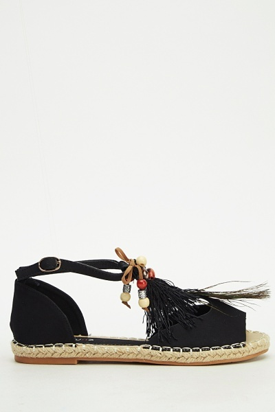 Ideal Contrast Peacock Sandals