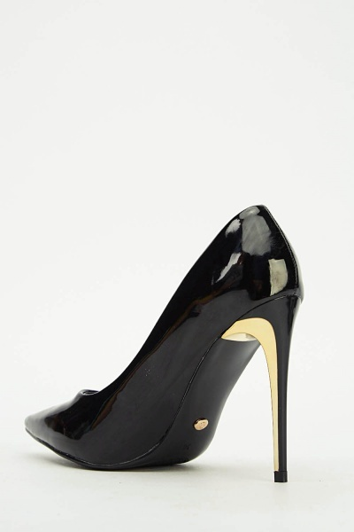 Ideal Contrast PVC Court Heels