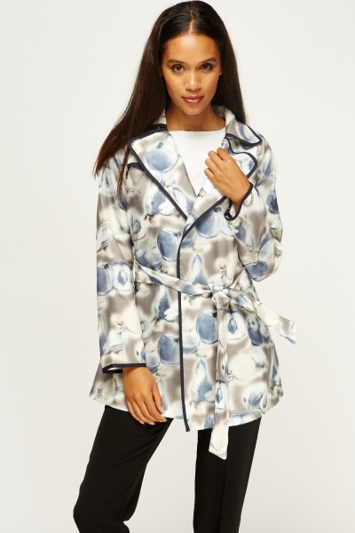 3D Mixed Fruit Trench Coat