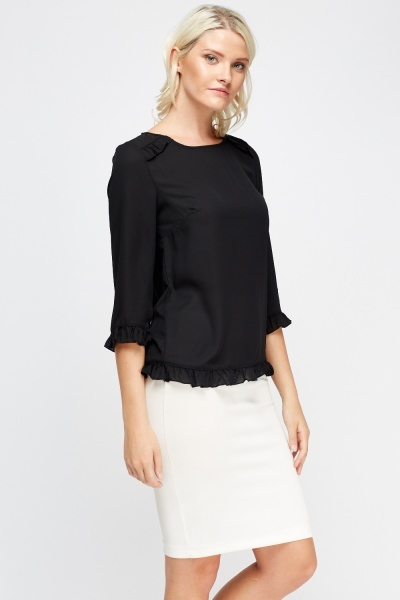 Flared Trim Sheer Top