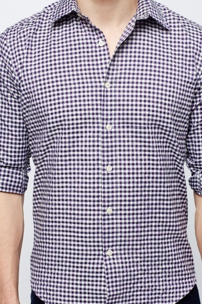 Purple Check Grid Shirt