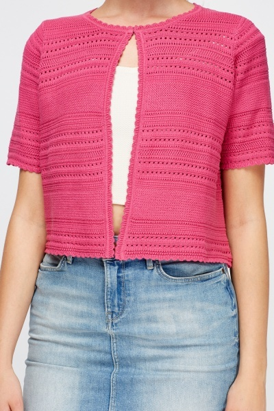 Scallop Trim Cardigan