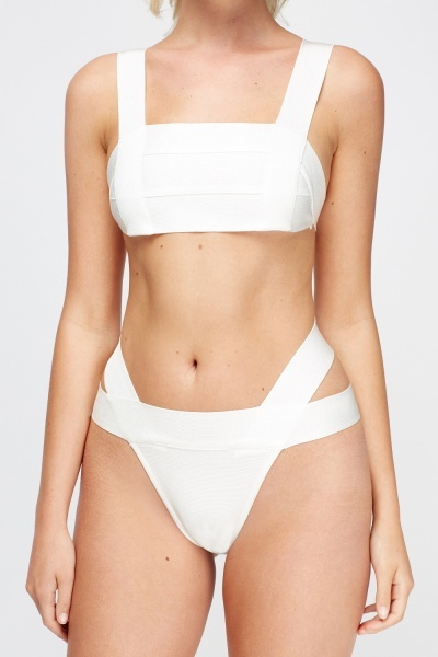 White Bandage Two Piece Set