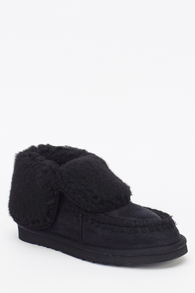 Teddy Bear Faux Fur Slipper Boots