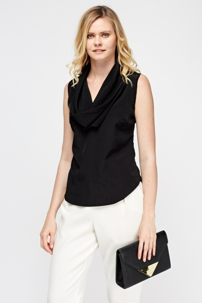 Cowl Neck Sleeveless Top
