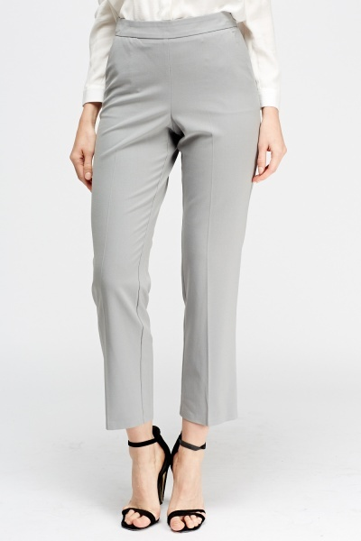 Grey Cigarette Trousers
