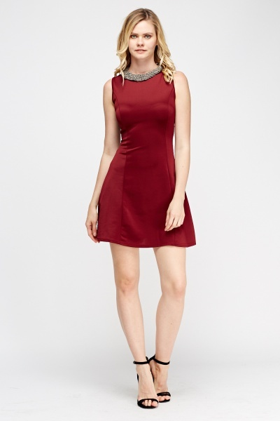 Sleeveless Skater Dress