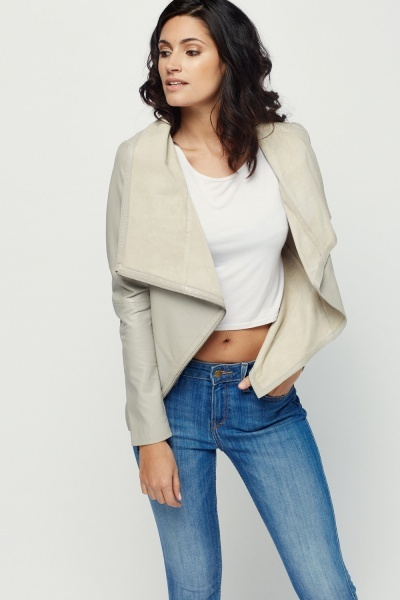 Muubaa Sabina Drape Cardi Leather Jacket
