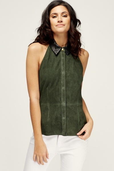Muubaa Vellanca Halter Neck Shirt