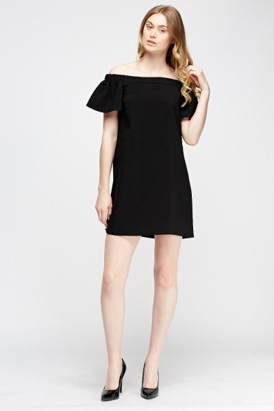 Image of Off Shoulder Flared Swing Dress