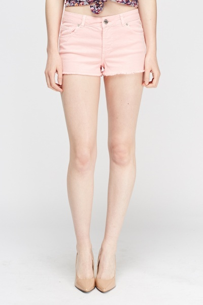 Pink Denim Shorts