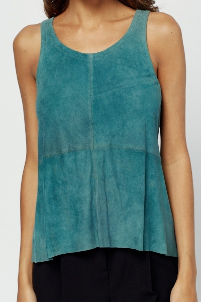 Muubaa Suede Sleeveless Top