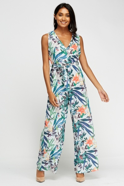 Kimi And Co Wide Leg Floral Jumpsuit