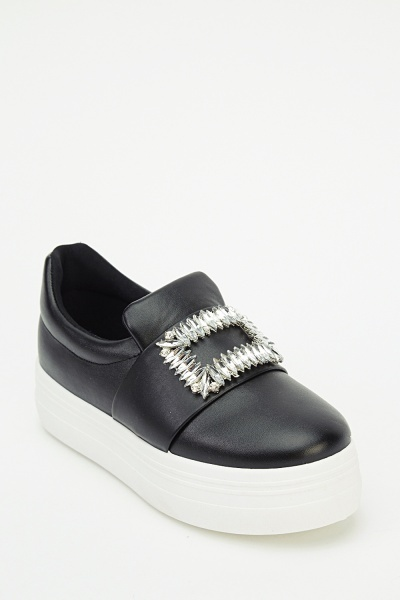 Sergio Todzi Diamonte Platform Slip On Shoes