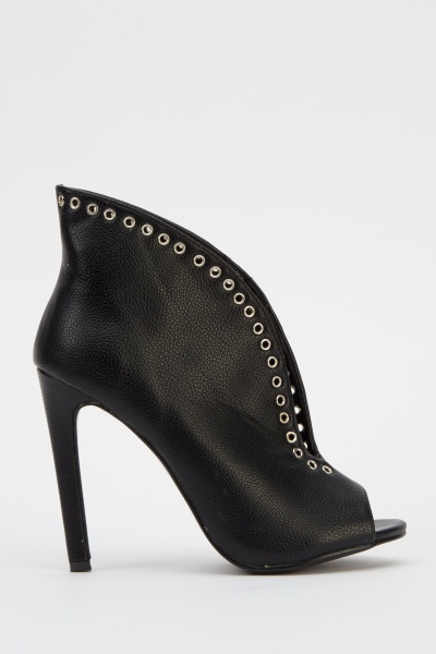 Sergio Todzi Studded Open Toe Faux Leather Heels