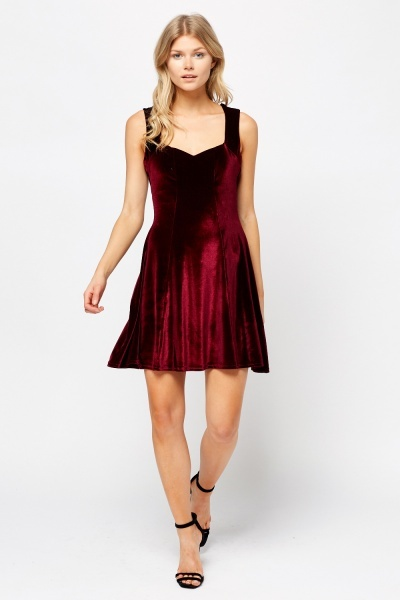 Velveteen Swing Dress