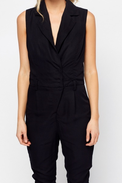 Wrap Sleeveless Casual Jumpsuit