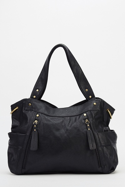 Image of Detailed Faux Leather Handbag