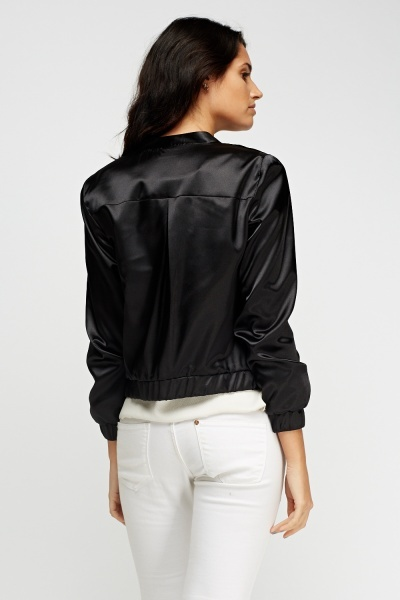 Light Weight Bomber Silky Jacket