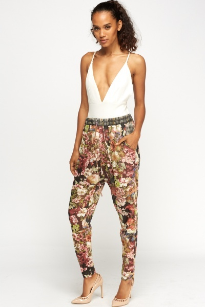 Image of Floral Elasticated Pants