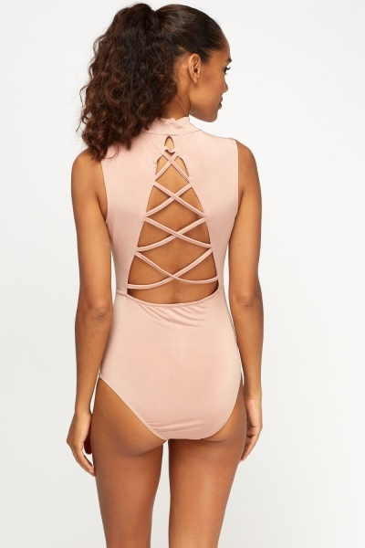 Strappy High Neck Bodysuit