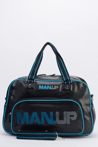 Image of Black Mens Gym Holdall Bag