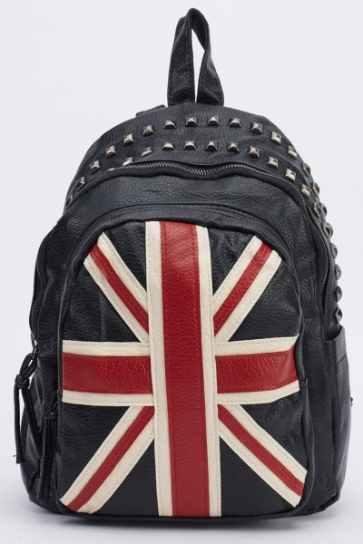 Image of Printed Faux Leather Backpack