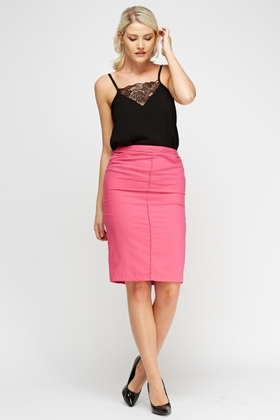 Formal Pencil Midi Skirt