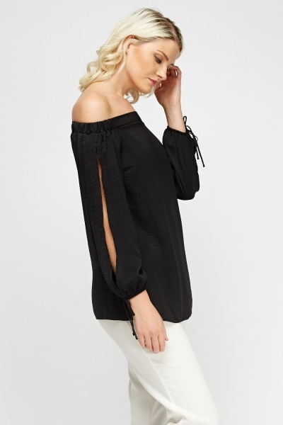 Silky Off Shoulder Top