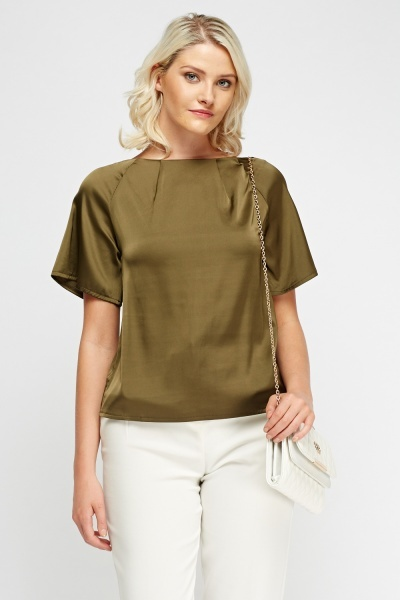 Image of Silky Olive Top
