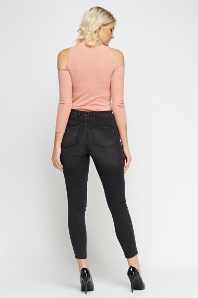 Skinny Fit Charcoal Jeggings