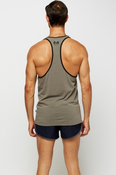 Dark Grey Sleeveless Top