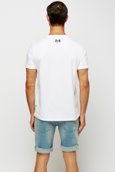 Logo Printed White T-Shirt