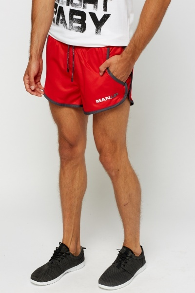 Red Short Performance Shorts