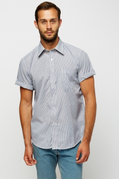Short Sleeve Stripe Shirt