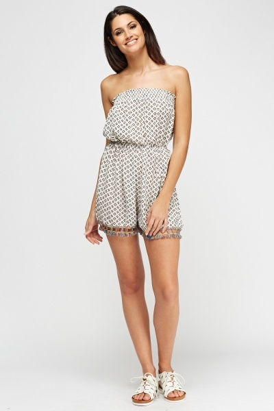 Bandeau Printed Playsuit