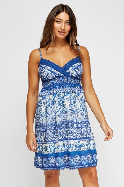 Crochet Trim Sun Dress