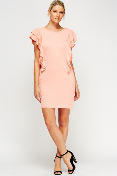 Frilled Mini Dress
