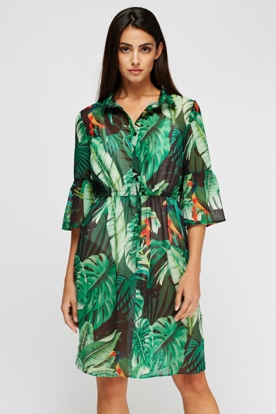 Aikha Floral Printed Sheer Cover Up