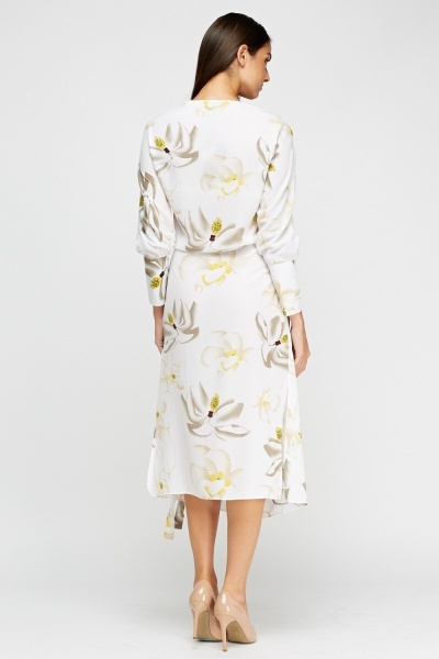 Aikha Wrap Printed Dress