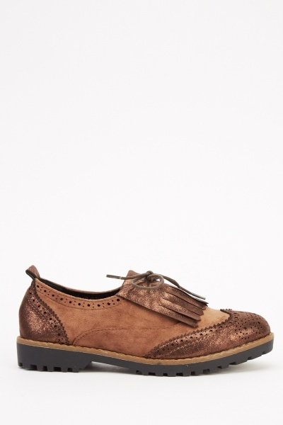 Fringed Front Brogue Shoes
