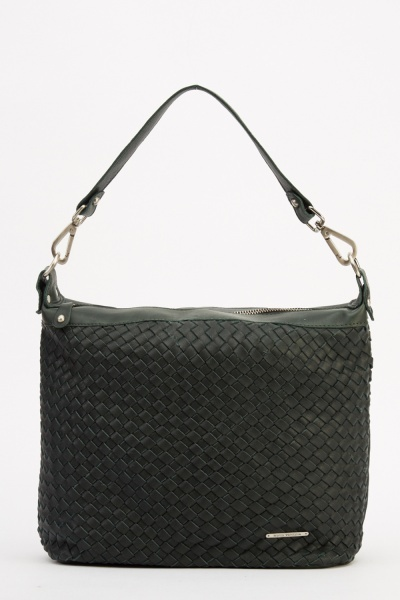 Marco Venezia Leather Clarissa Backet Weave Handbag