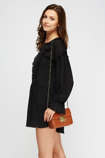 Flared Trim Casual Dress